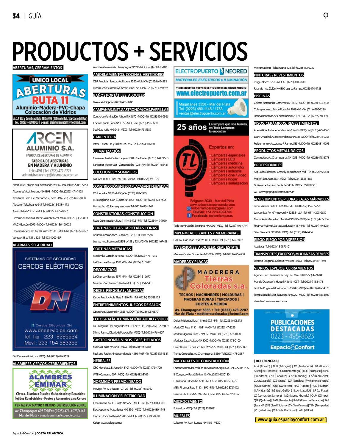 100 Costa Septiembre 2016 By Revista Espacio Confort  # Muebles Luberto Mdp