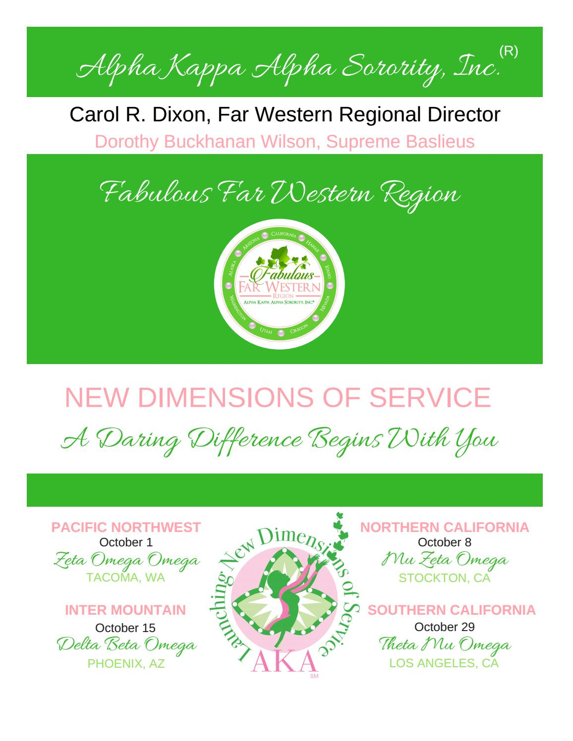 2016 FWR Cluster Conference Registration Packet by AKA Far Western ...