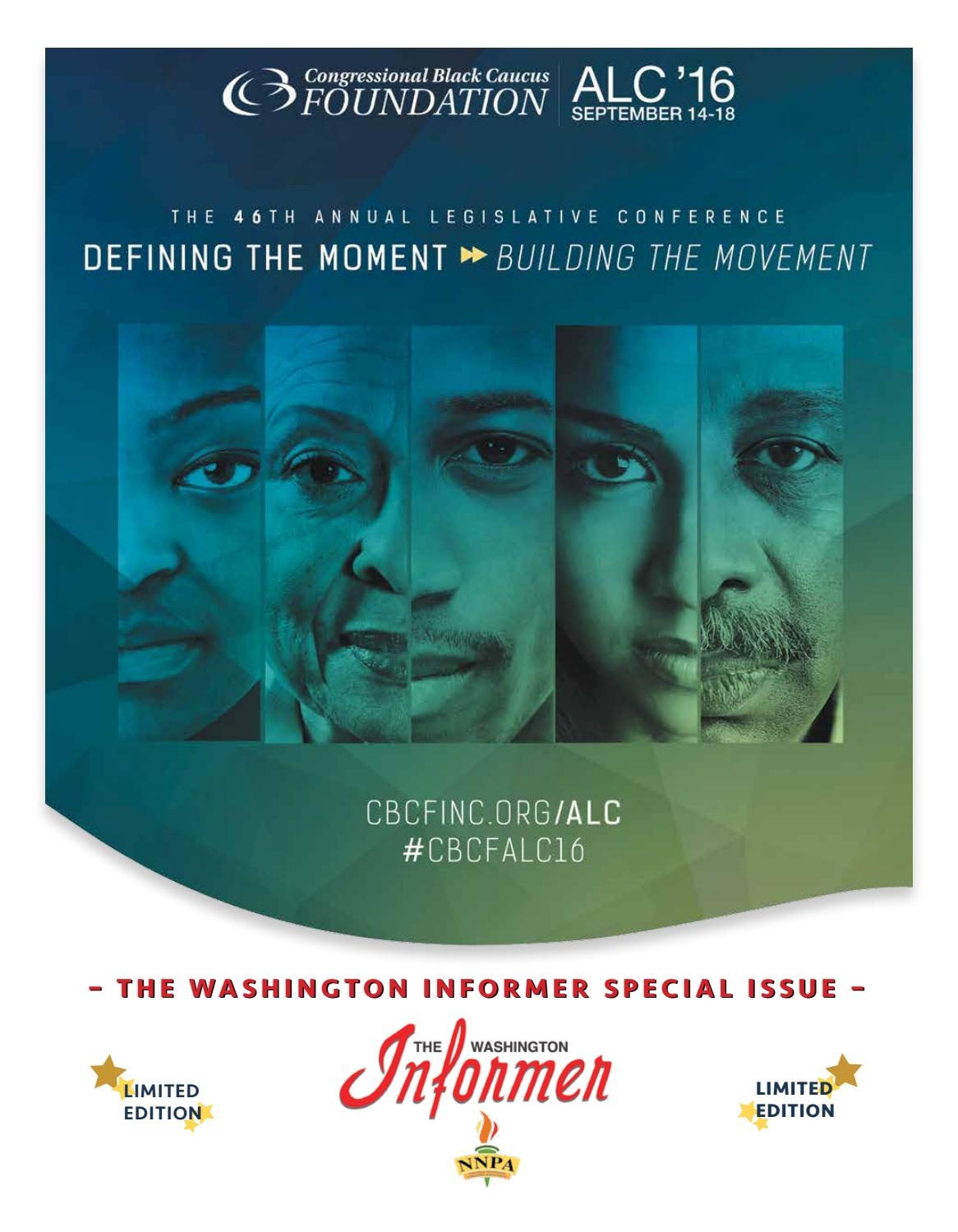 Congressional Black Caucus Foundation Special Issue By The League Volans K 440 Washington Informer Issuu