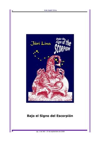 Bajo el signo del escorpión by Santiago Ramirez Barahona - issuu c6558745c97