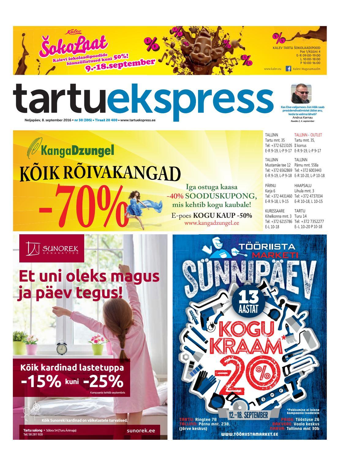 c4c348a2d04 Tartu Ekspress, 8.09.2016 by Tartu Ekspress - issuu