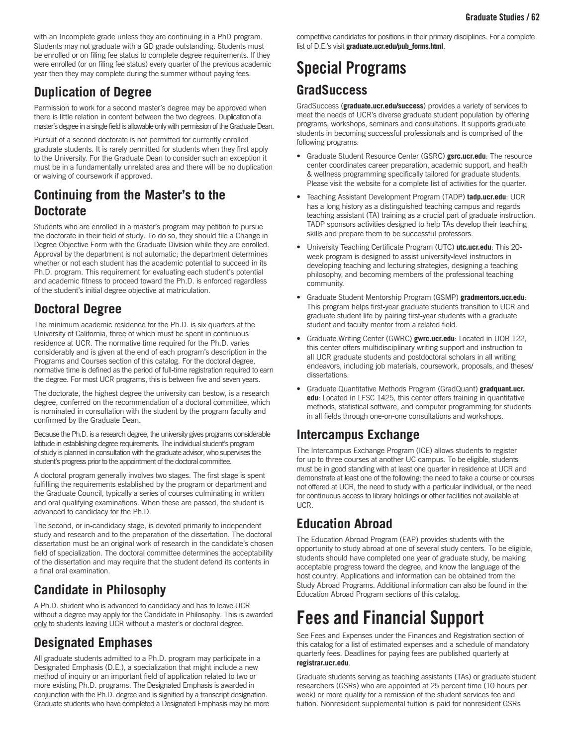 UC Riverside General Catalog 16-17 by UCR SAMC - issuu