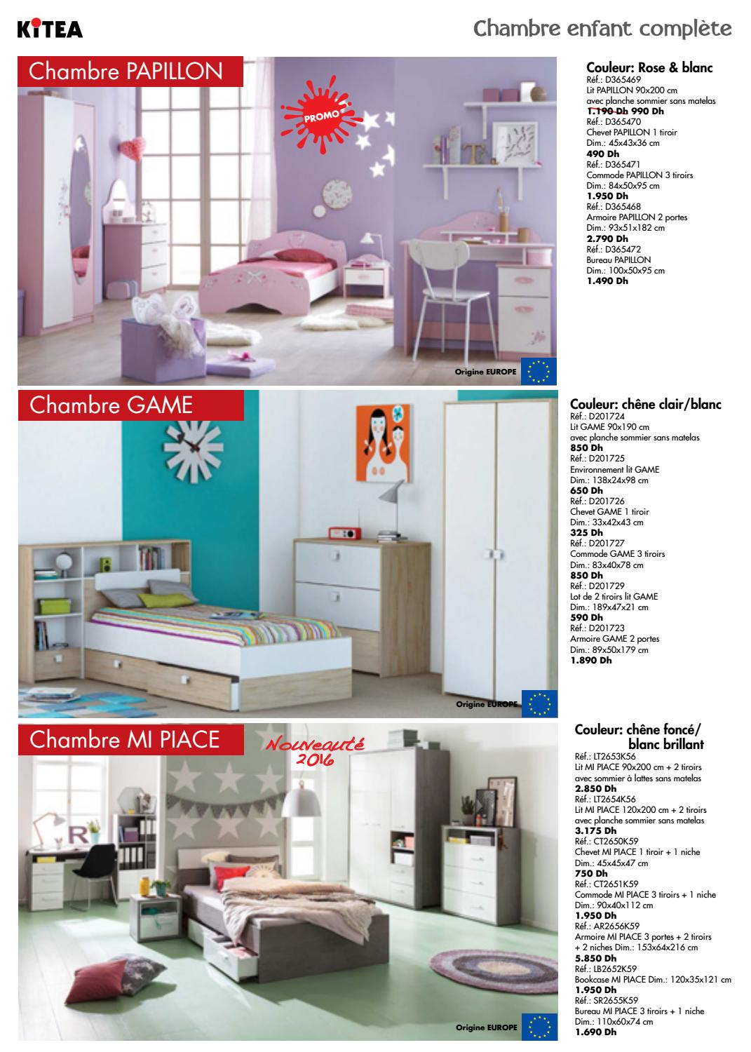 Kitea depliant rdc 2016 by promotion au maroc issuu - Chambre game but ...