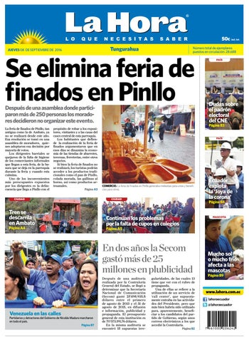 54105732f Ambato08septiembre2016 by Diario La Hora Ecuador - issuu