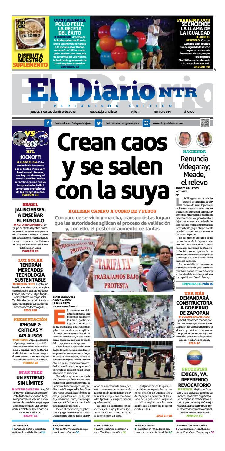 El Diario NTR 514 by NTR Guadalajara - issuu