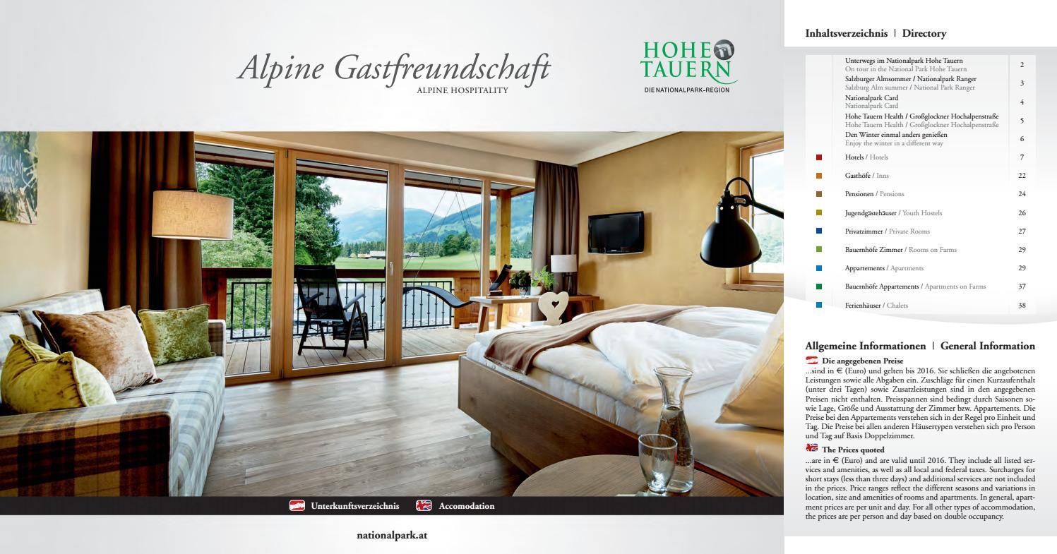 Alpine Gastfreundschaft 2014/2015 by Ferienregion Nationalpark Hohe ...