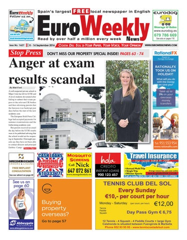 Euro weekly news costa del sol 1 7 september 2016 issue 1626 by euro weekly news costa del sol 8 14 september 2016 issue 1627 fandeluxe Images