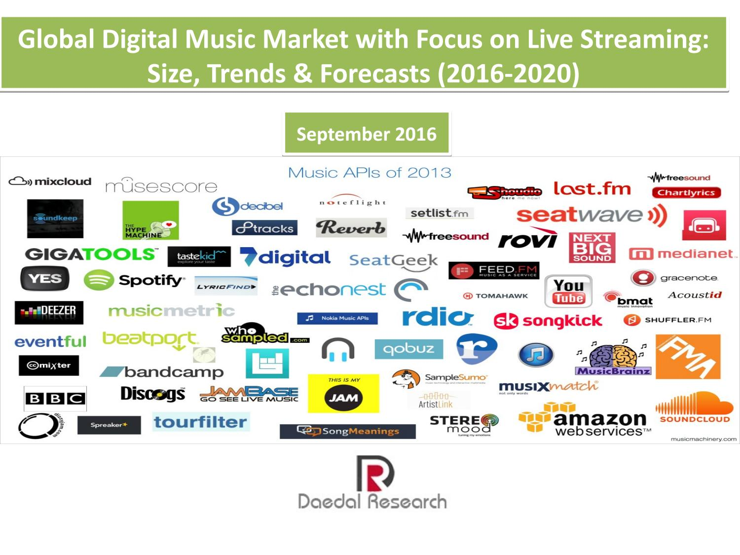 Music Trends 2020.Global Digital Music Market With Focus On Live Streaming