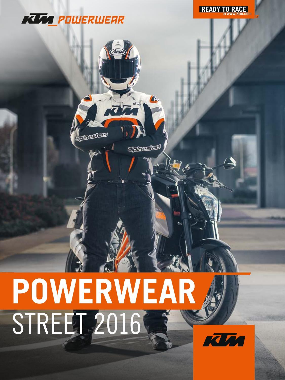 Catálogo KTM PowerWear Street 2016 by Secomoto KTM Madrid - issuu 87fc06f7e2b22