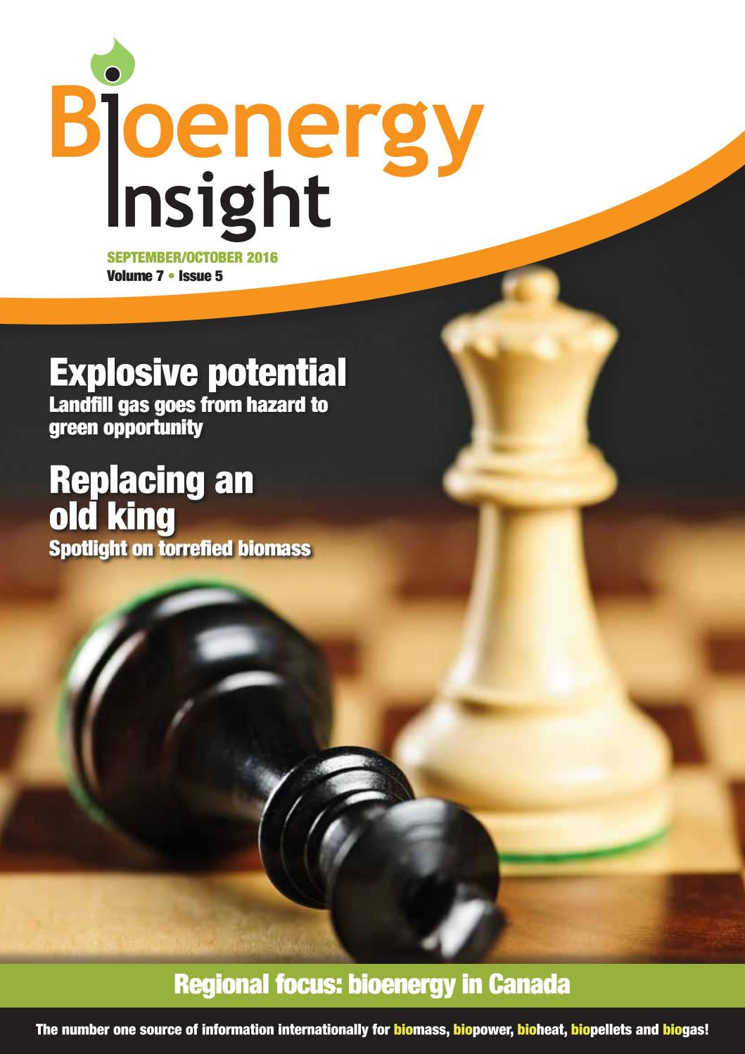 Bioenergy Insight September/October 2016 by Woodcote Media