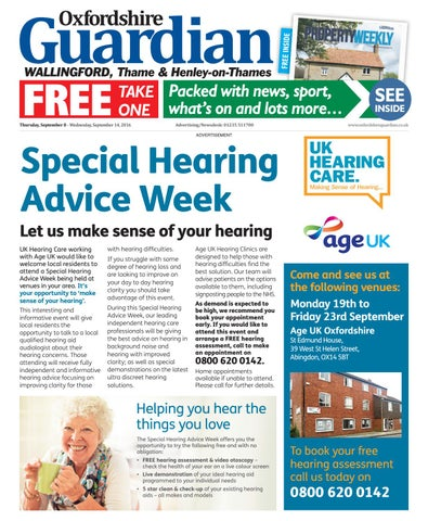 8 September 2016 Oxfordshire Guardian Wallingford By Taylor