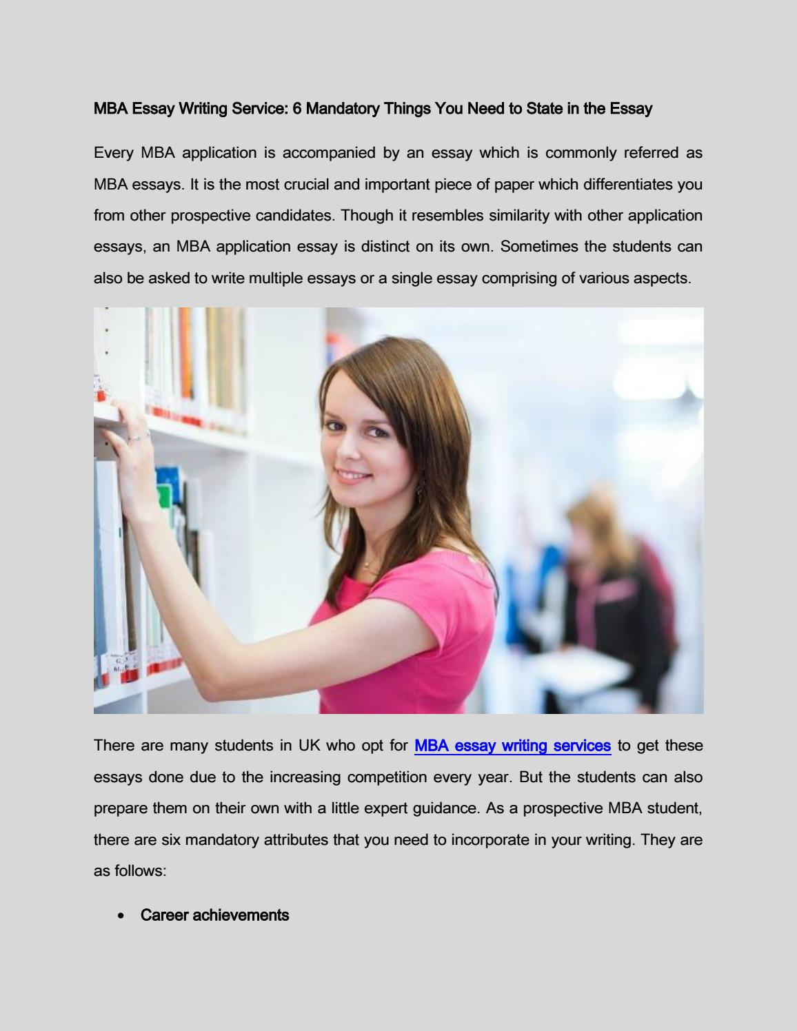 Mba admission essays services college