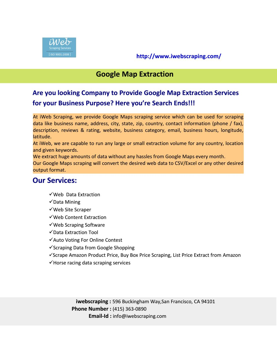 Google Map Extraction , Web Scraping Services , Extract Data
