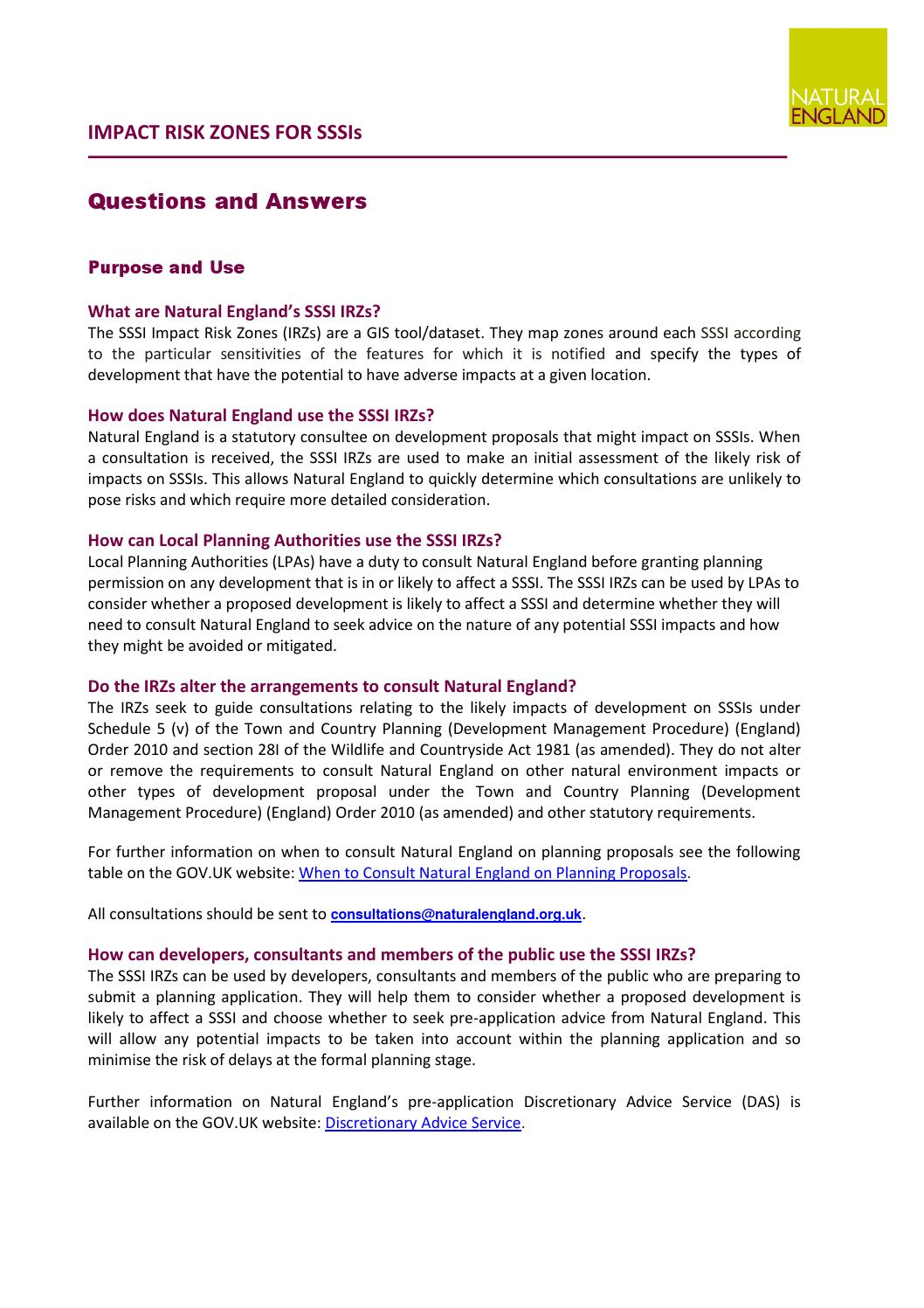 More On Adverse Developmental Impacts >> Impact Risk Zones For Sssis Questions And Answers By Suffolk