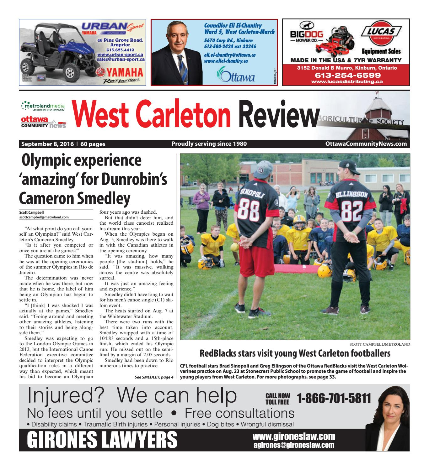 527ca59f4b Westcarleton090816 by Metroland East - West Carleton Review - issuu