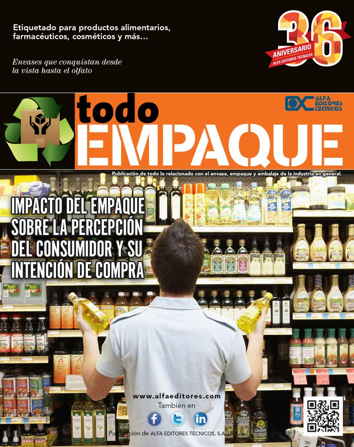 Todo Empaque Noviembre Diciembre 2015 By Alfa Editores T Cnicos  # Hazan Muebles Gavilan