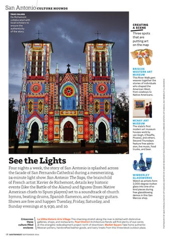 September 2016 by southwest the magazine issuu san antonio culture hounds true colors de richemont collaborated with local scholars to ensure the authenticity of the story publicscrutiny Images
