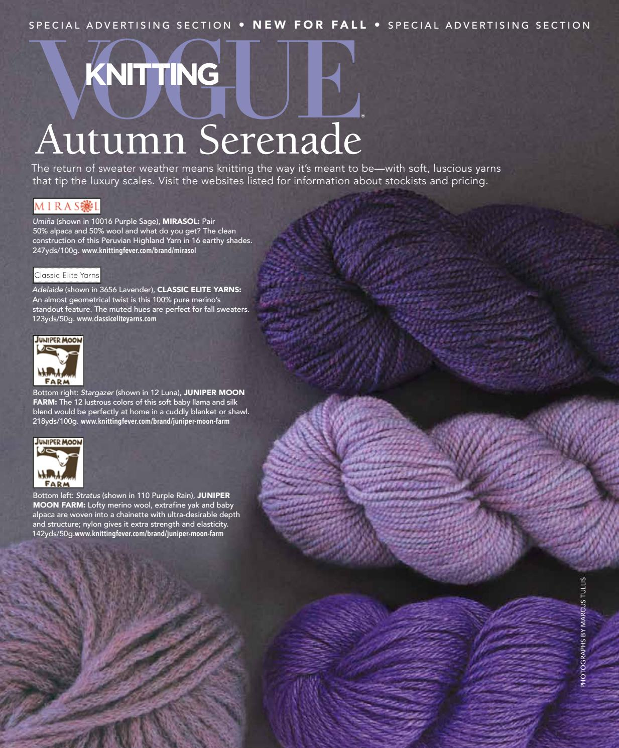 bc20abd988d2 Vogue knitting yarn advetorial 2016 by VogueKnitting - issuu
