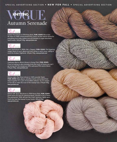 Vogue knitting yarn advetorial 2016 by VogueKnitting - issuu