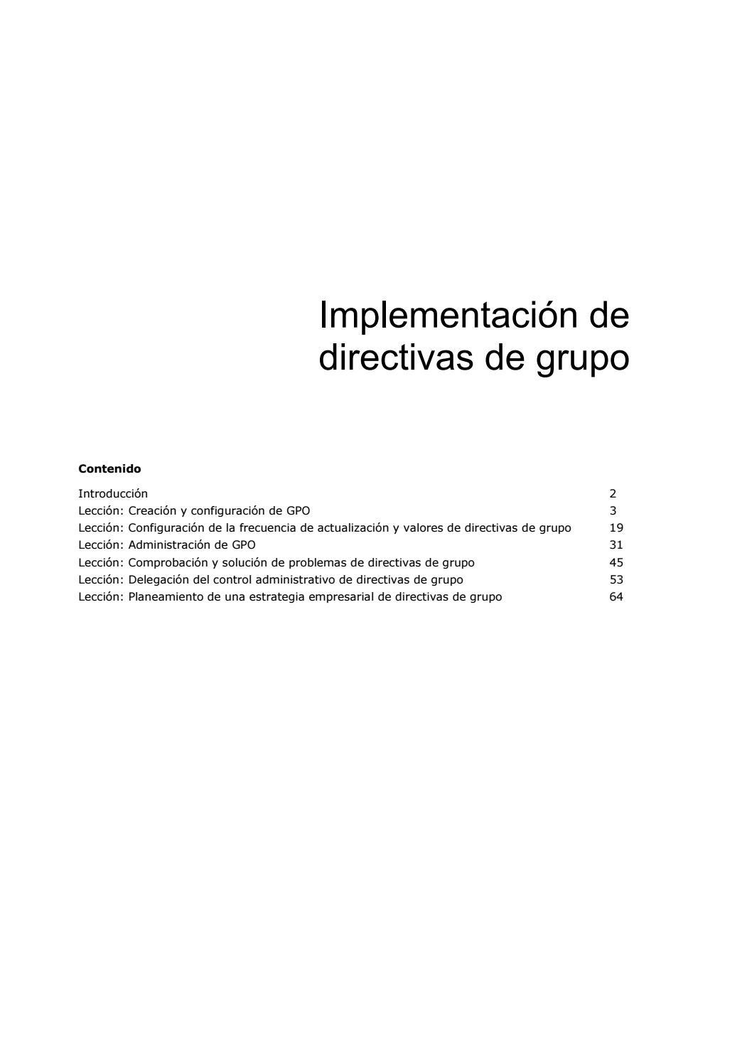 17 implementacion de directivas de grupo by Juan Zúñiga Flores - issuu