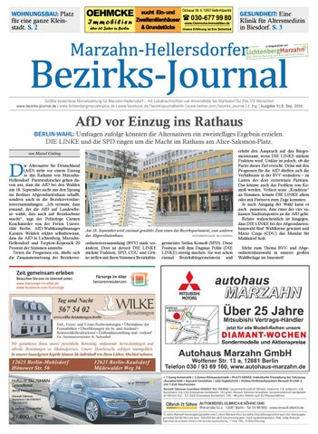 Bezirks Journal Marzahn Hellersdorf September 2016 By Bezirks