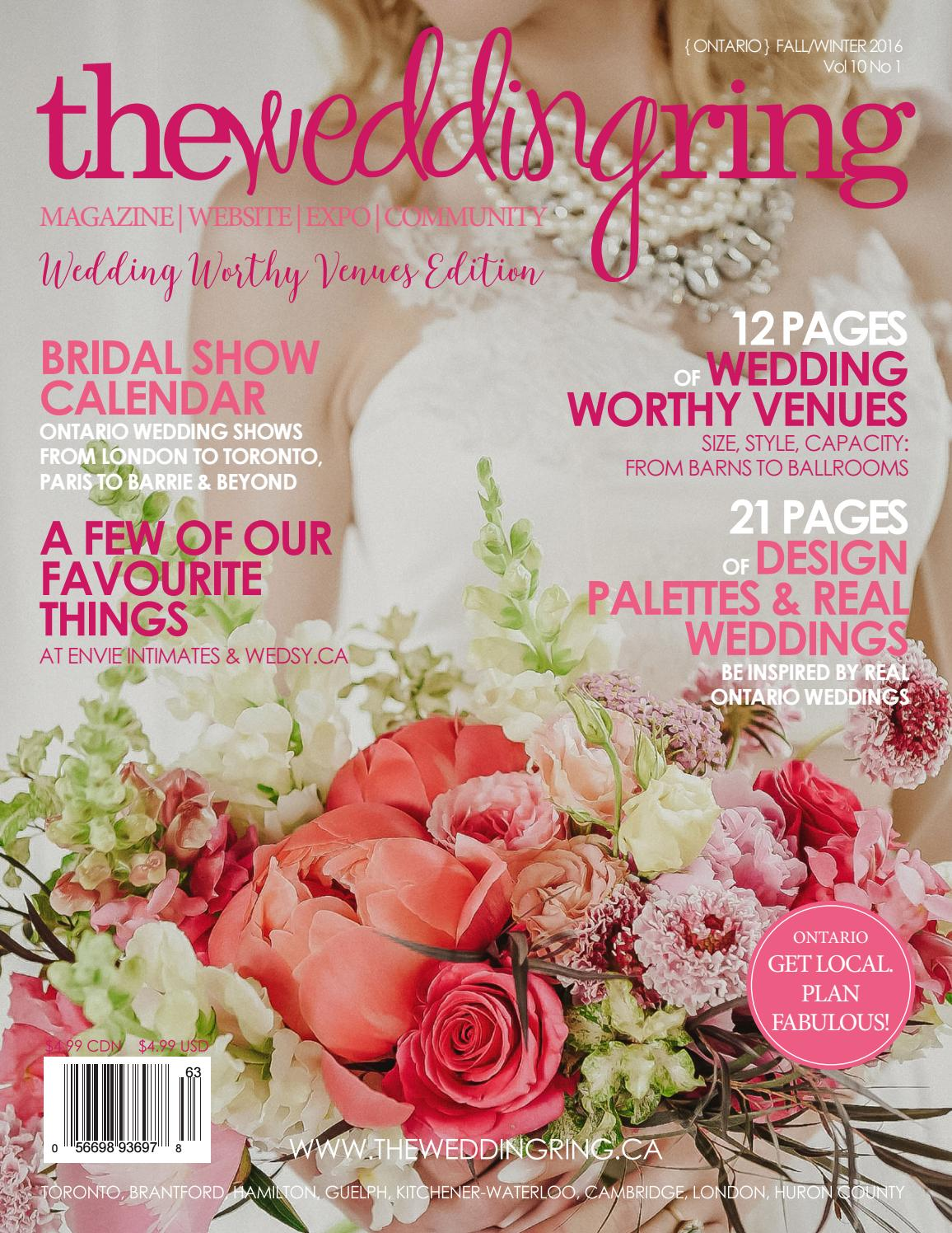 The Wedding Ring Magazine ONTARIO Fall/Winter 2016 by The Wedding ...