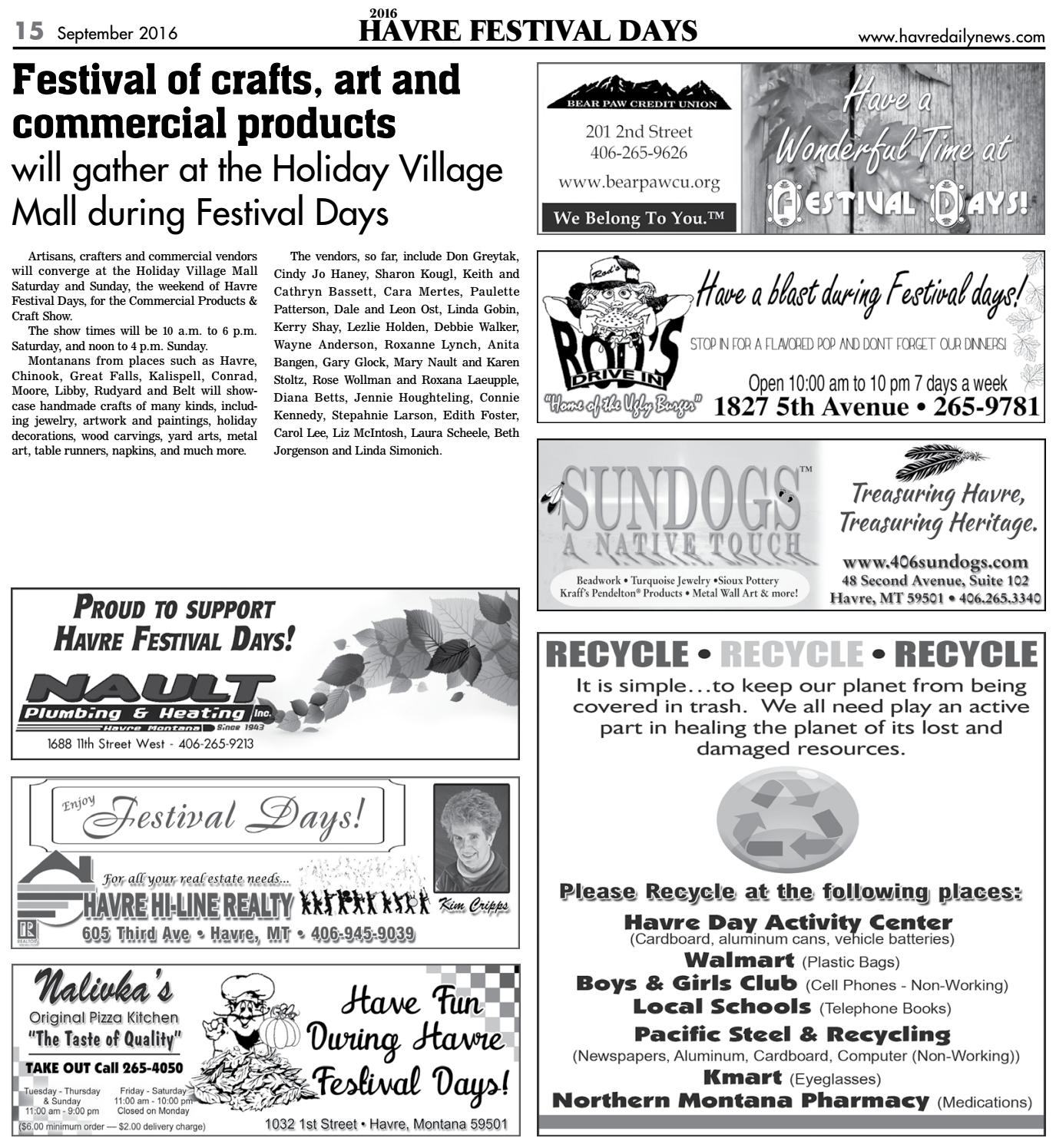 Festival Days Tab 2016 By Havre Daily News Issuu