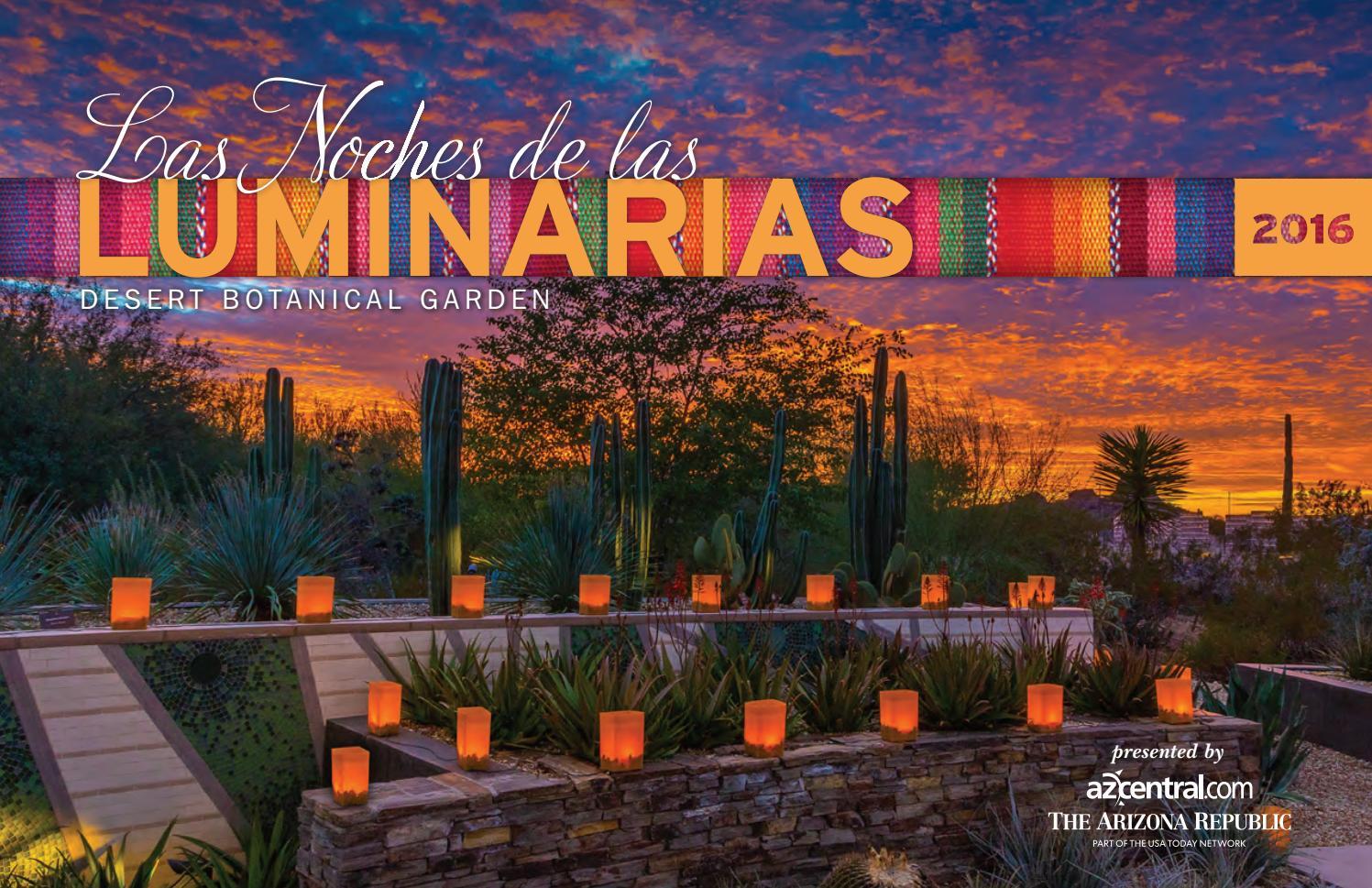 Las Noches De Las Luminarias 2016 Invitation By Desert Botanical Garden Issuu