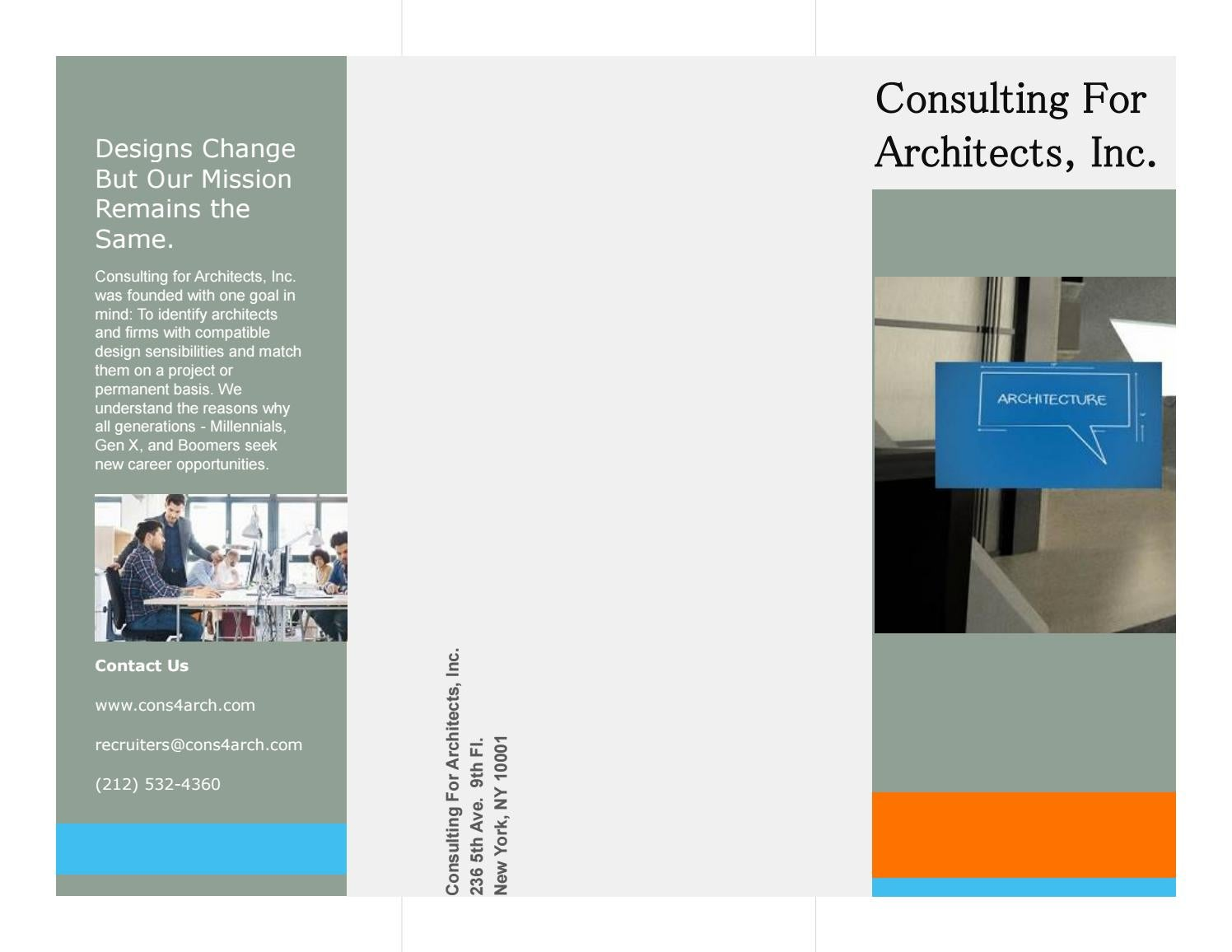 Good Brochurecfa By Consulting For Architects   Issuu