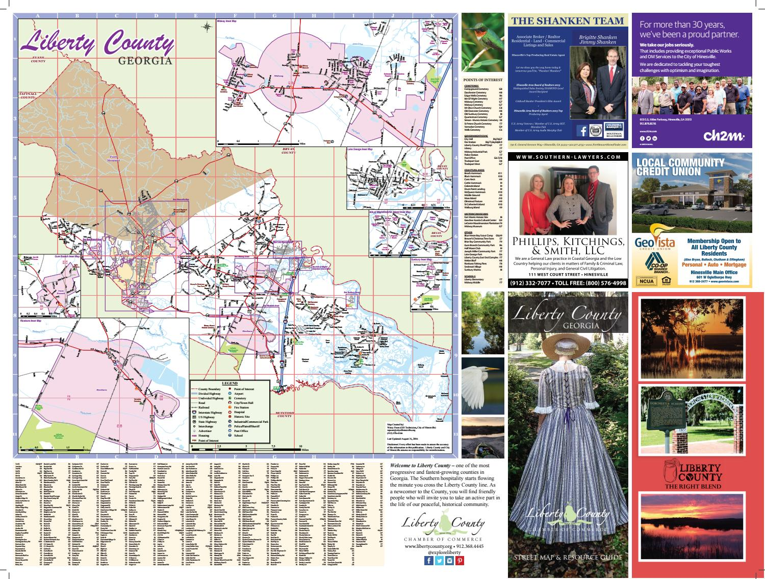 Liberty County Map 2016 By Liberty County Chamber Of