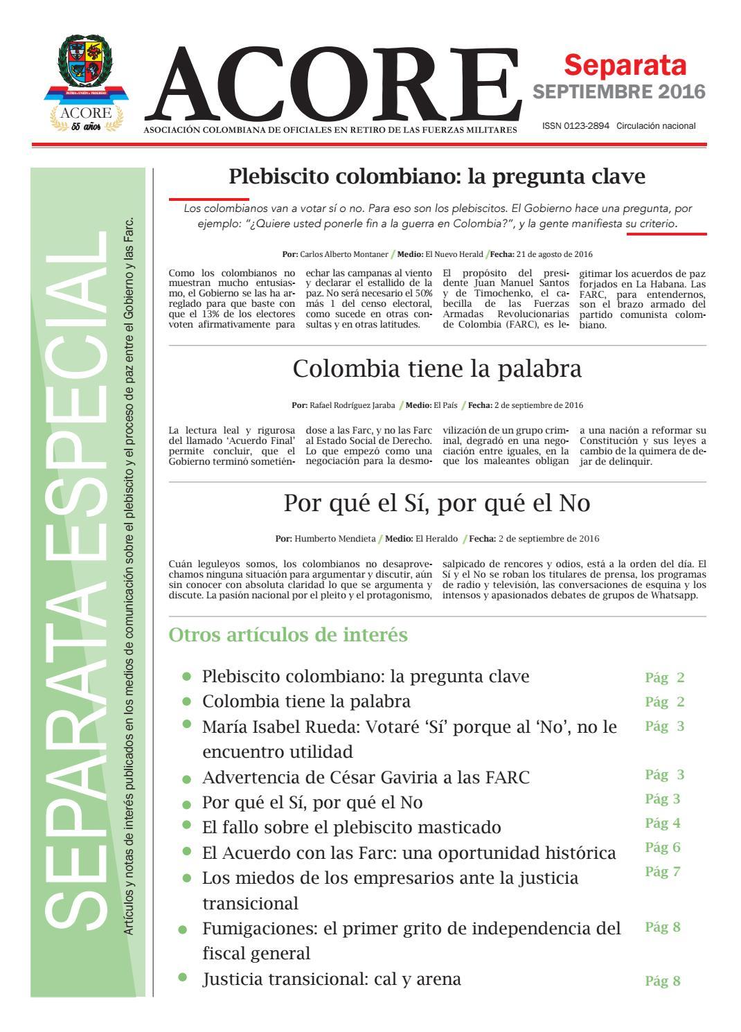 Separata medios septiembre 2016 by ACORE - issuu