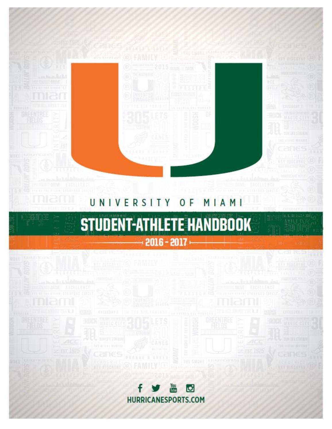 2016-17 Student-Athlete Handbook by Miami Hurricanes - issuu