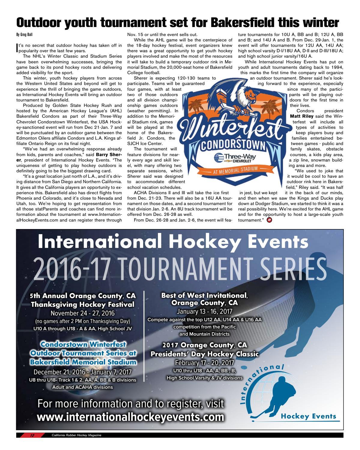 Three Way Chevrolet Bakersfield >> California Rubber Magazine - September 2016 by Rubber Hockey Magazines - Issuu