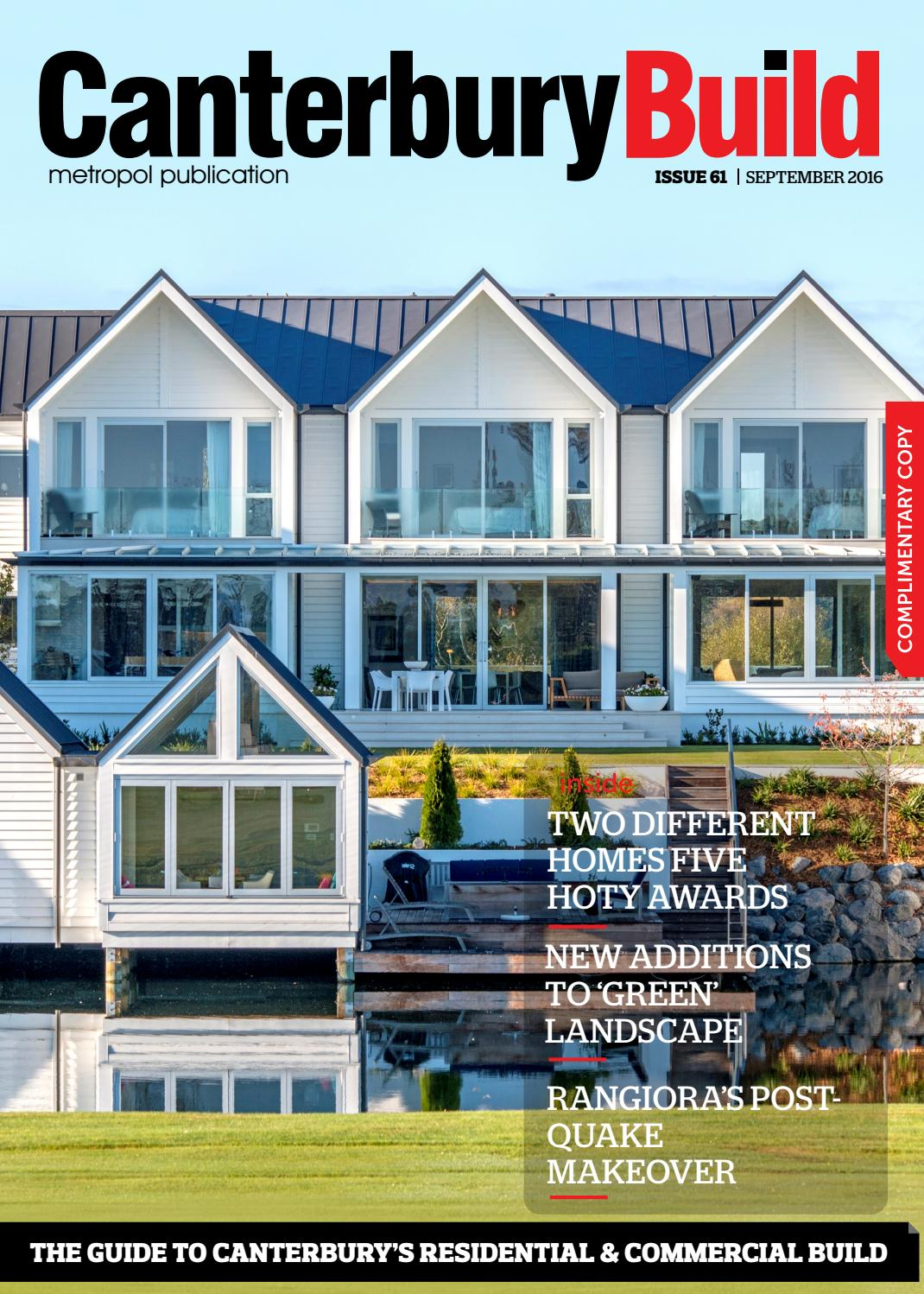Canterbury Build Magazine September 2016 Issue 61 by Metropol - issuu