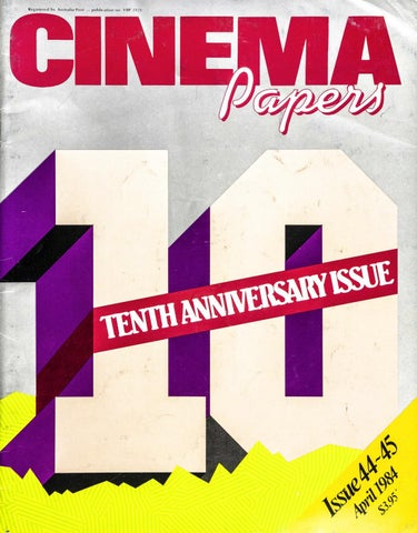 Cinema Papers April 1984 By Uow Library Issuu