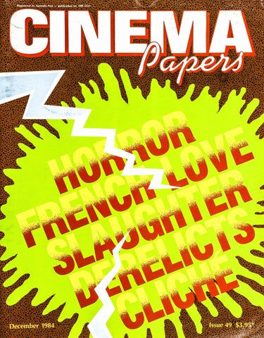 Cinema Papers December 1984 By Uow Library Issuu