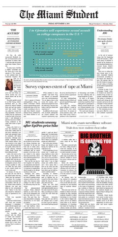 September 9, 2016 | The Miami Student by The Miami Student