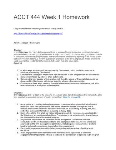 Acct week6m homework es
