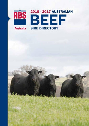 ABS Australia 2016/17 Beef Sire Directory by ABS Global, Inc  - issuu
