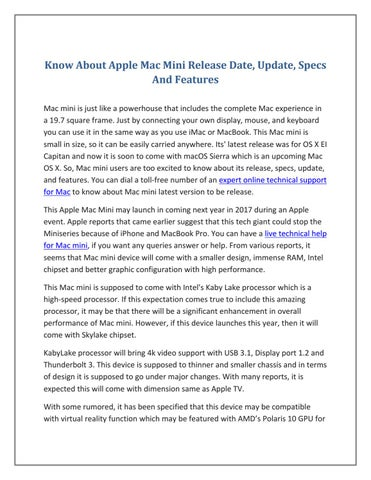 dating mac mini jedinstvena pitanja za postavljanje internetskih upoznavanja