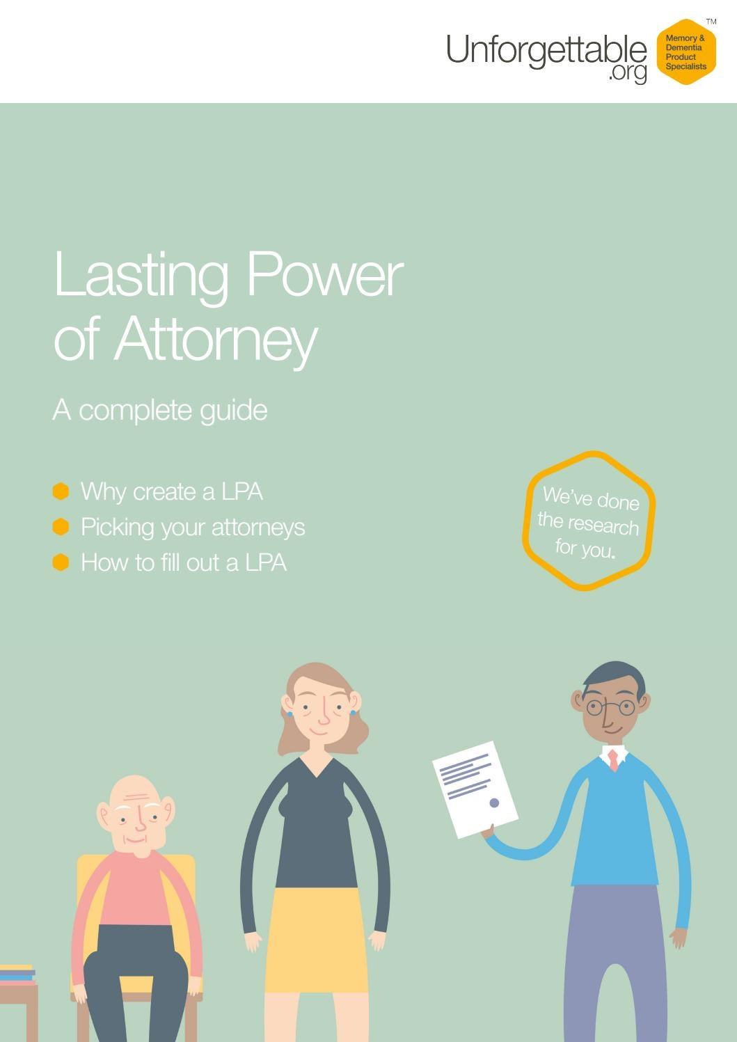 Lasting power of attorney a complete guide by unforgettable lasting power of attorney a complete guide by unforgettable issuu falaconquin