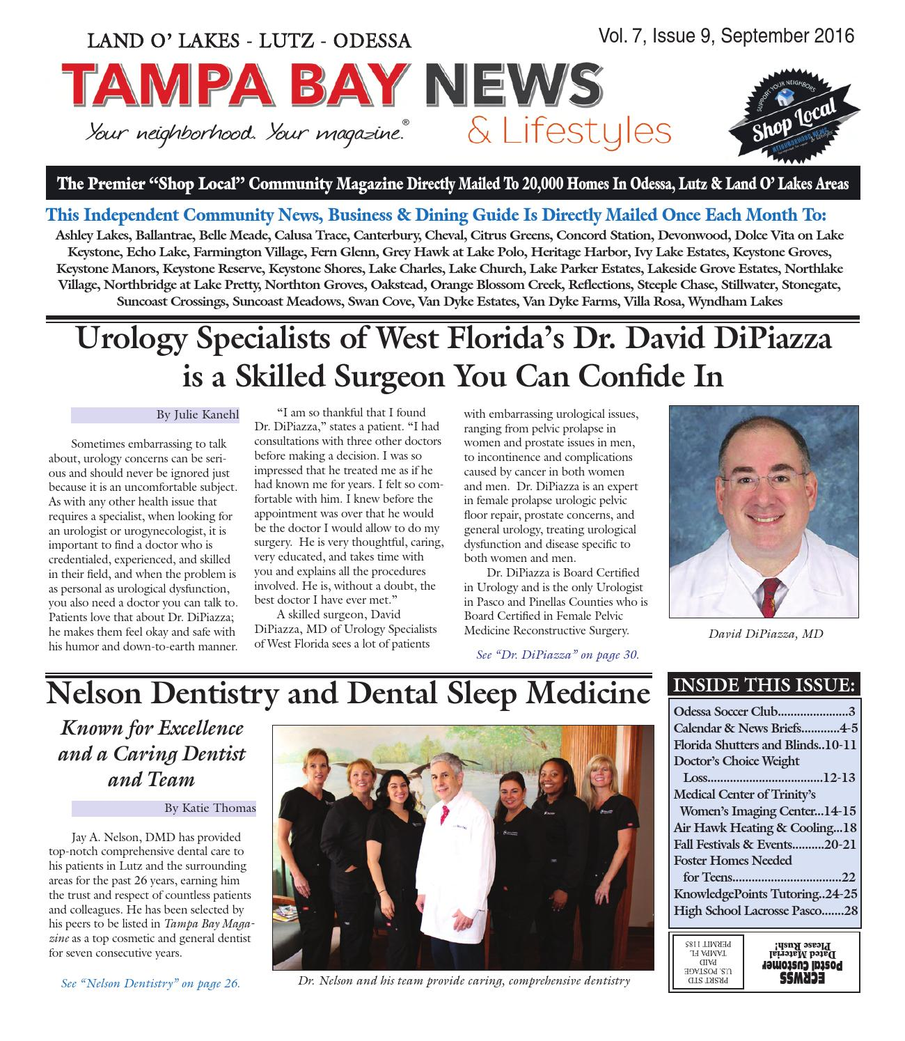 Lutz Land O Lakes Odessa Vol 7 Issue 9 September 2016 By Tampa Bay News Lifestyles Magazine Issuu