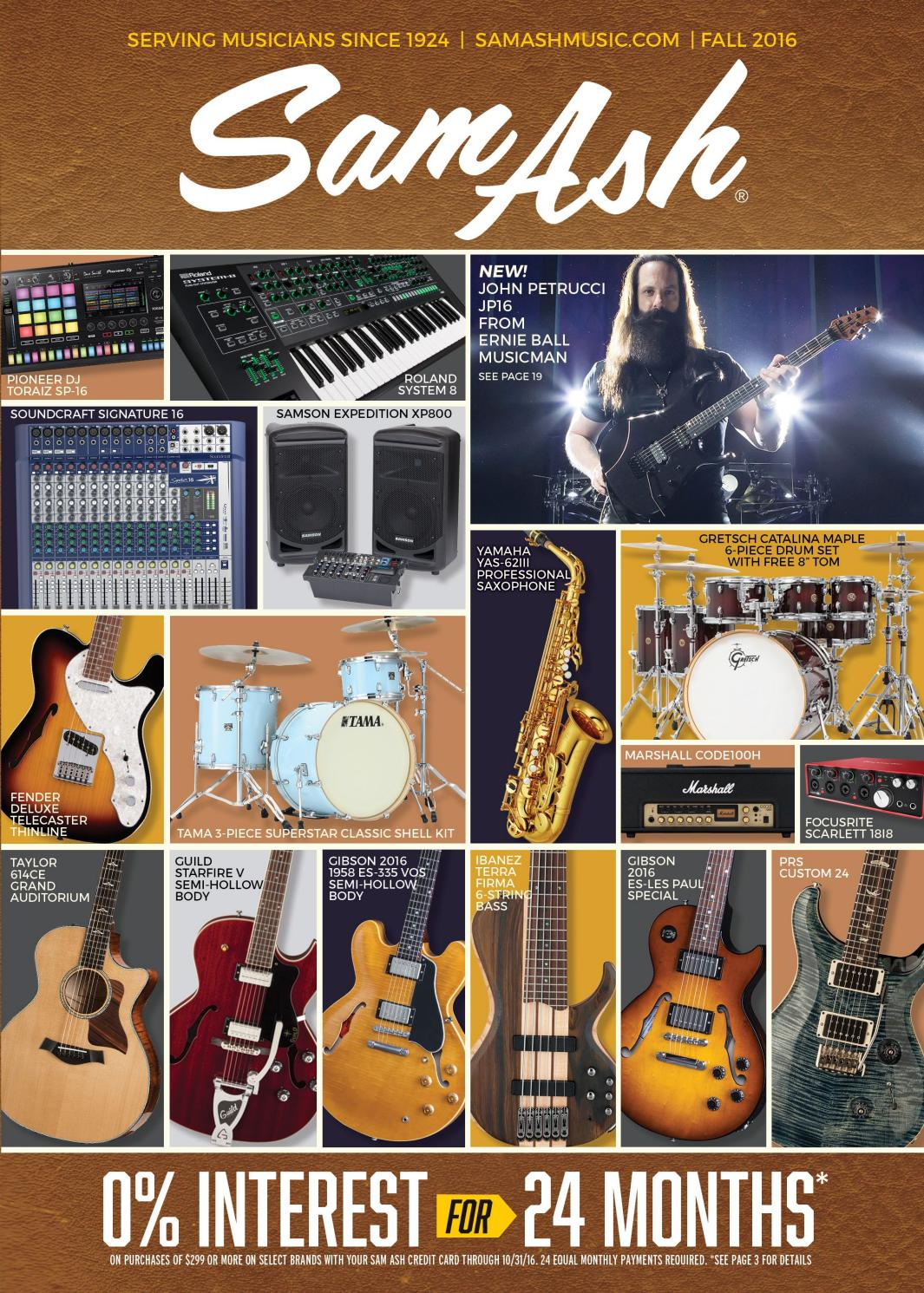 Fall 2016 Sam Ash Gear Guide By Music Corp Issuu Audio Systems Also Gibson 335 Guitar Wiring Diagrams As Well