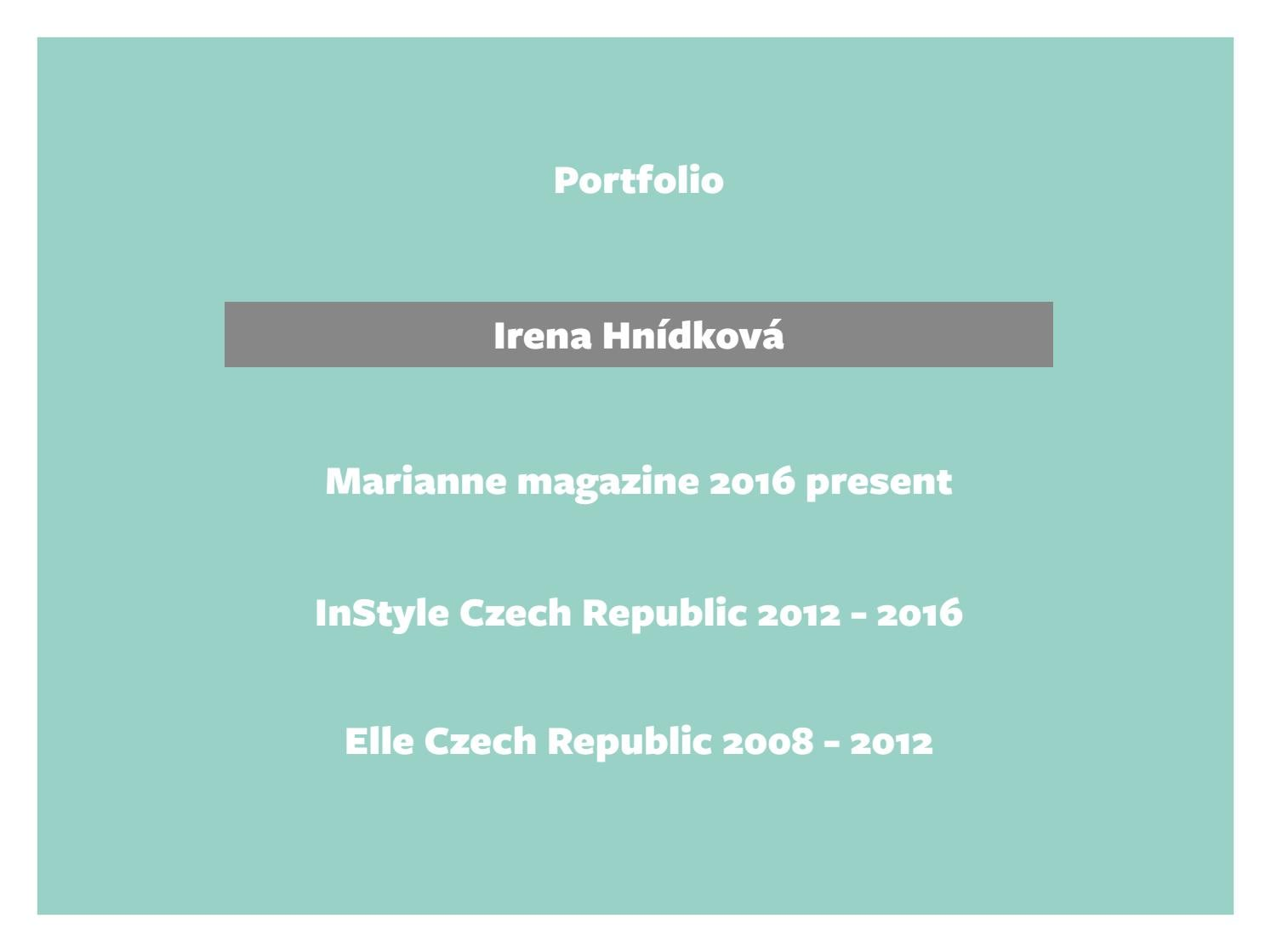 Portfolio sept 2016 by Irena Hnidkova - issuu 8d90596cc5