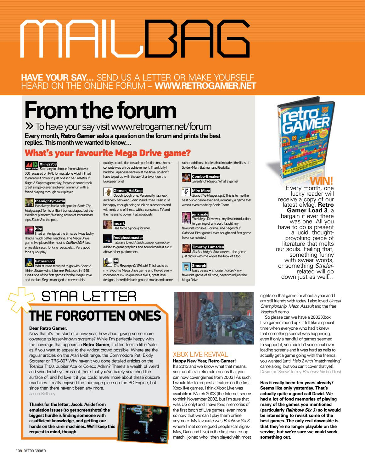 retro gamer forum