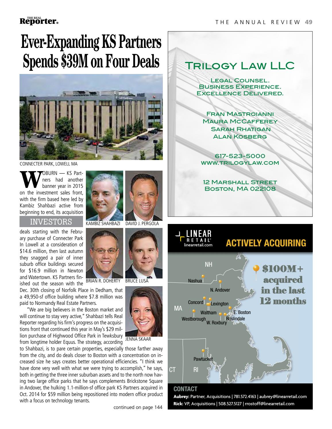 Commercial Real Estate Investment Yearbook By The Real Reporter Issuu
