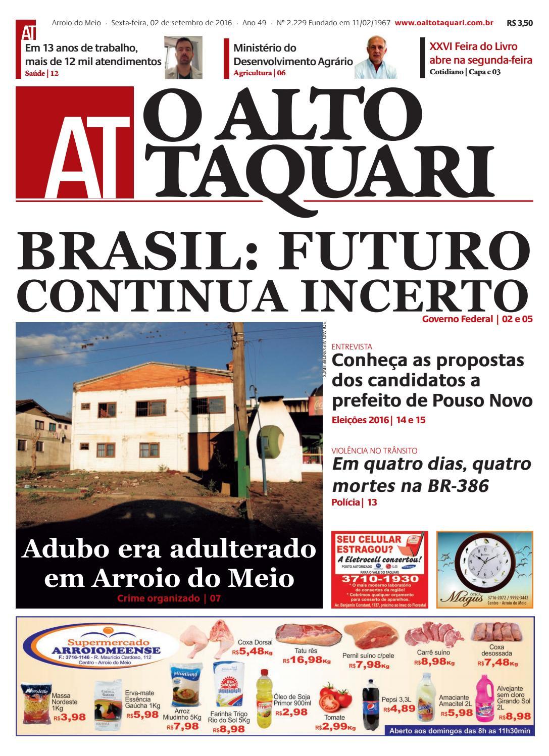 a3b15e447fa82 Jornal O Alto Taquari - 02 de setembro de 2016 by Jornal O Alto Taquari -  issuu