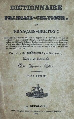 Dictionnaire Français Celtique G De Rostrenen T 2