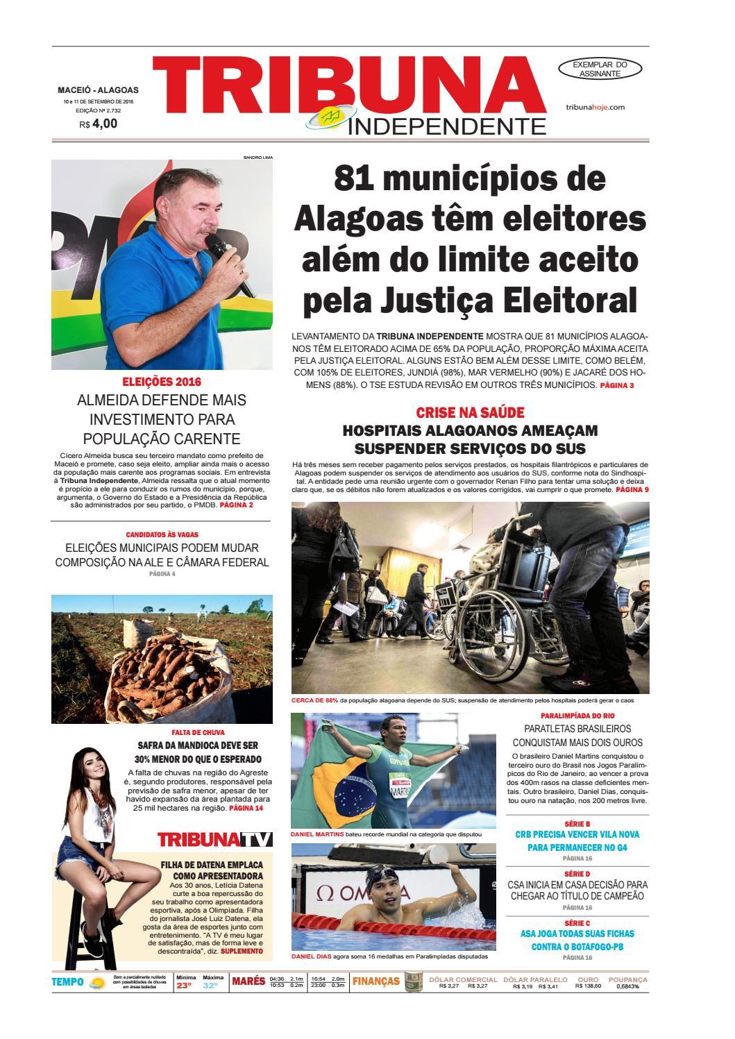 dc32485312a Edição número 2732 - 10 e 11 de setembro de 2016 by Tribuna Hoje - issuu