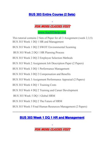bus 303 week 2 job description paper Ece 612 week 2 assignment job description final project in week five, you will create a job description for a bus 303 week 2 assignment job description.